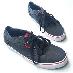 VANS mens black chambray low top sneakers
